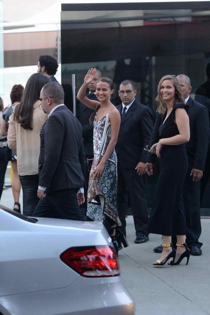 Alicia Vikander Arrives at the Louis Vuitton Show in Rio de Janeiro 05/28/2016-1
