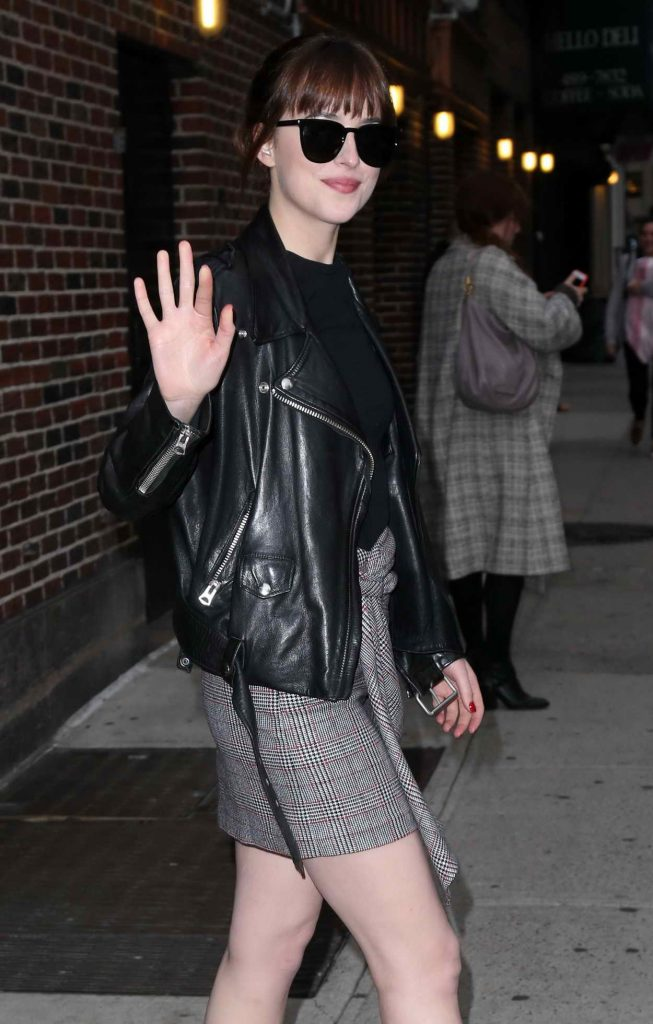 Dakota Johnson Leaves the Late Show With Stephen Colbert 05/03/2016-1