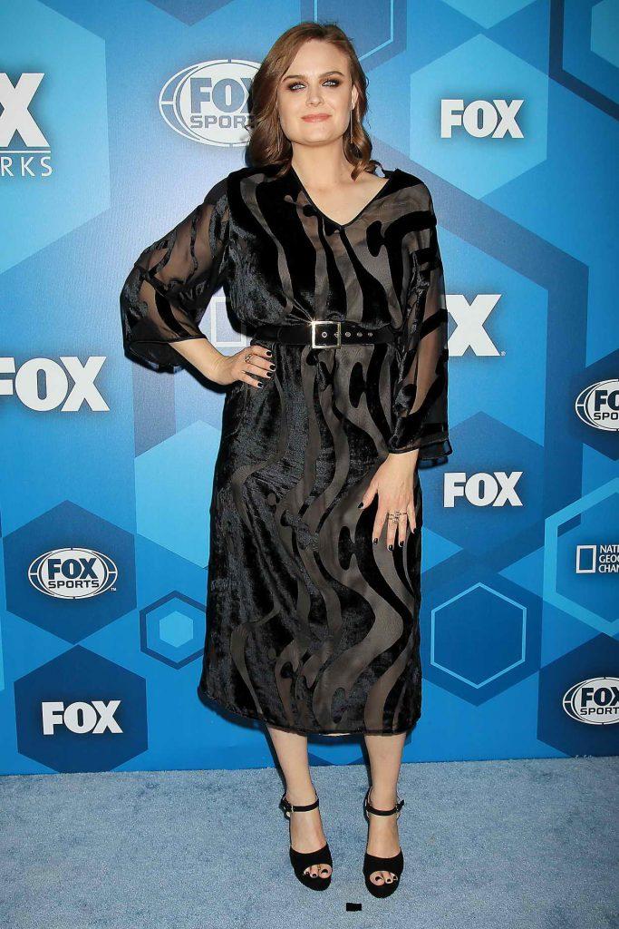 Emily Deschanel at the Fox Network 2016 Upfront Presentation in New York 05/16/2016-1