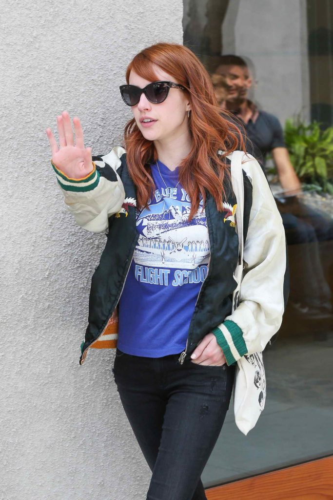 Emma Roberts Leaves 901 Salon in West Hollywood 05/19/2016-1
