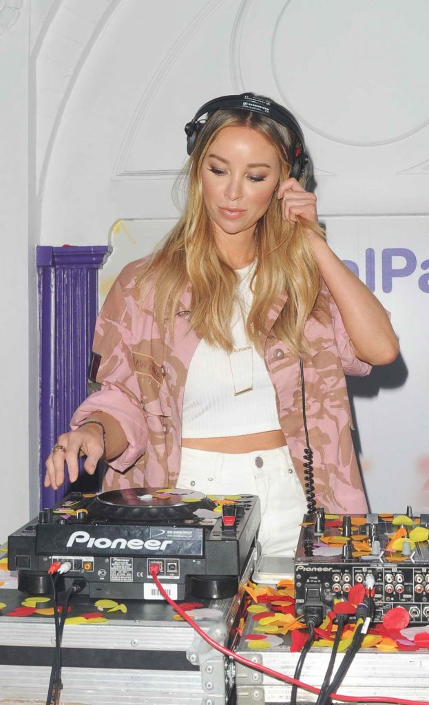 Lauren Pope Deejaying at The Boots UK Petal Party in London 05/04/2016-1