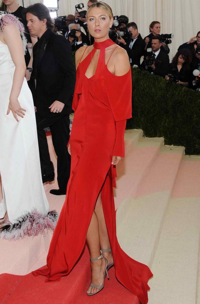 Maria Sharapova at the Costume Institute Gala in New York 05/02/2016-2