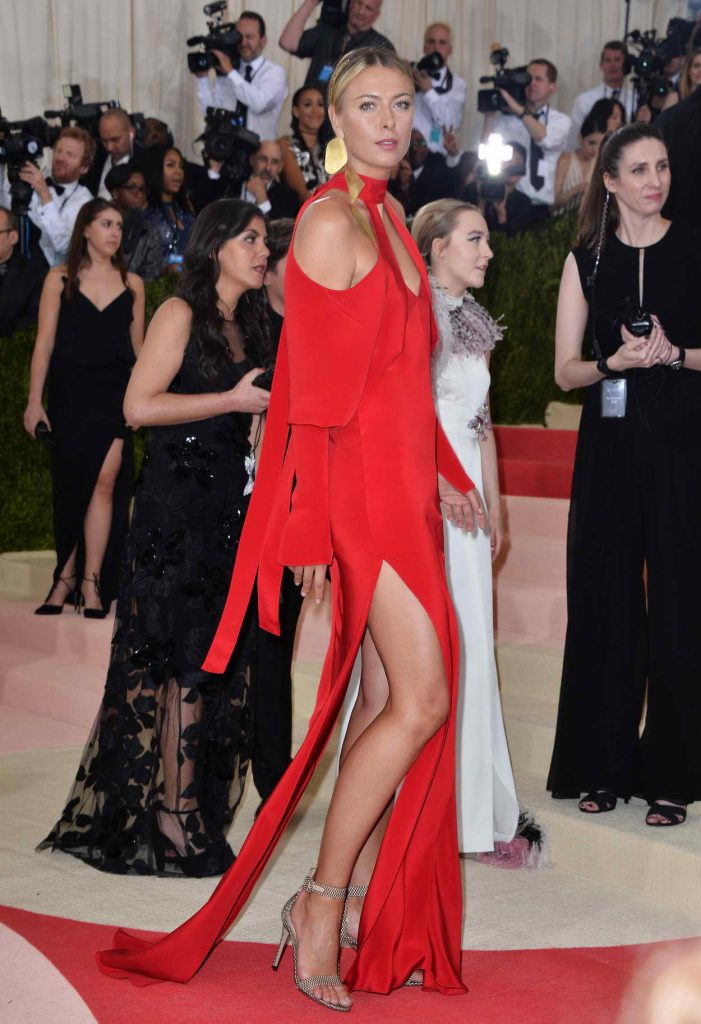Maria Sharapova at the Costume Institute Gala in New York 05/02/2016-3