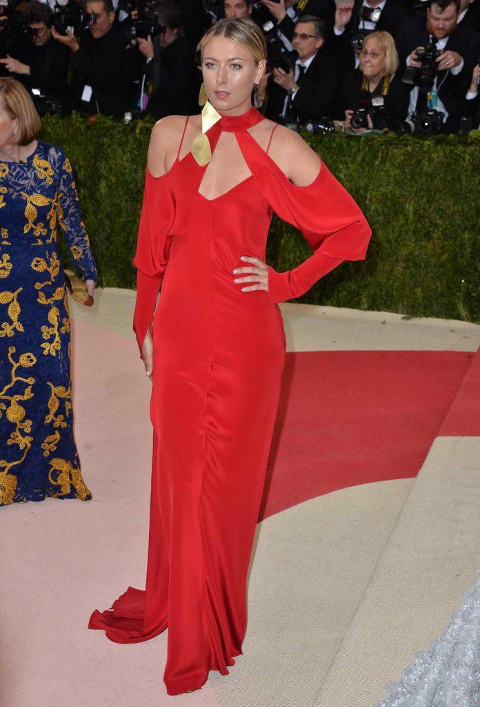 Maria Sharapova at the Costume Institute Gala in New York 05/02/2016-4
