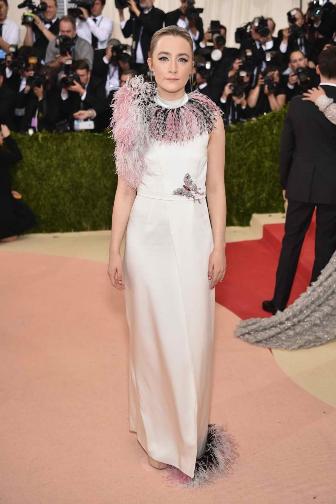 Saoirse Ronan at the Costume Institute Gala in New York 05/02/2016-1