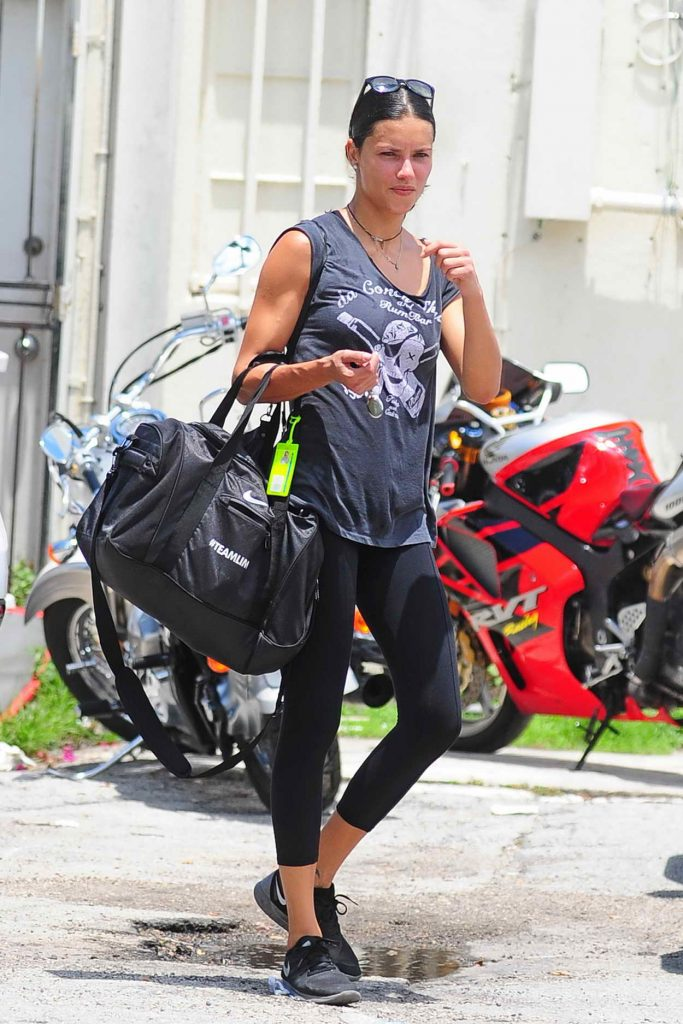 Adriana Lima Leaves the World Famous 5th Street Gym in Miami 06/04/2016-1