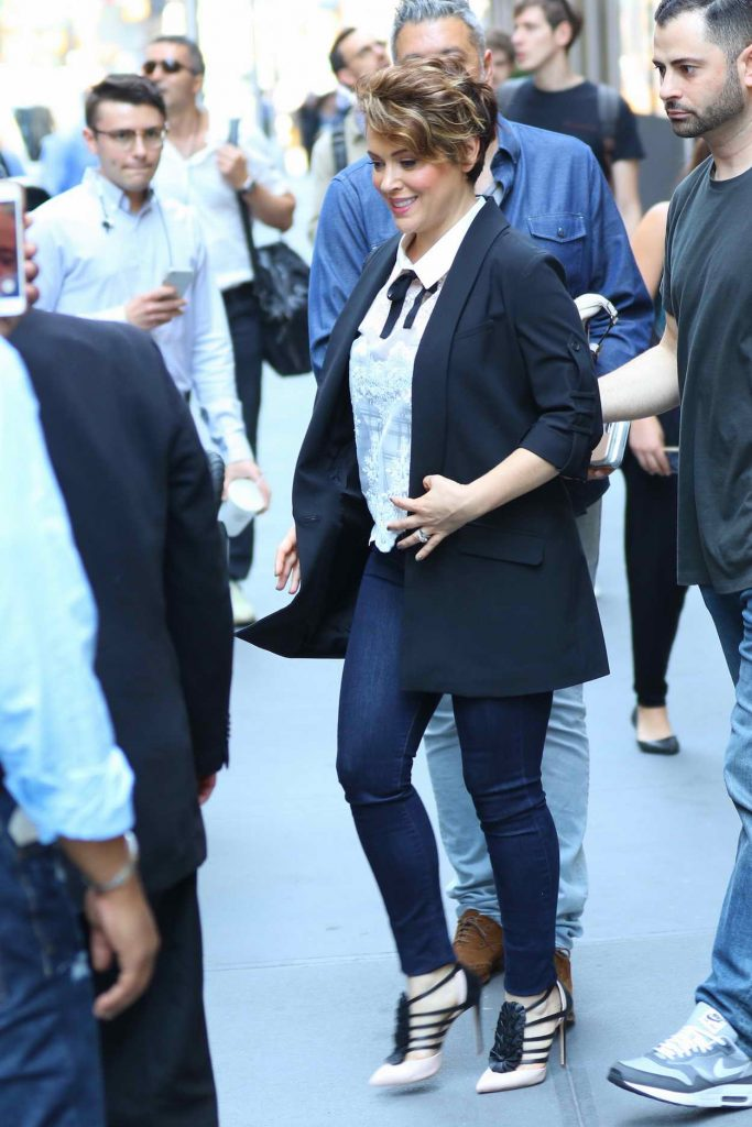 Alyssa Milano Leaves Sirius XM Studios in New York City 06/20/2016-2