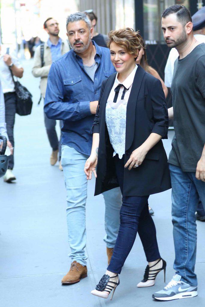 Alyssa Milano Leaves Sirius XM Studios in New York City 06/20/2016-3