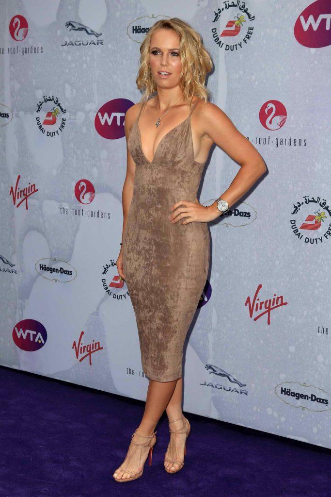 Caroline Wozniacki at the WTA Pre-Wimbledon Party at Kensington Roof Gardens in London 06/23/2016-1