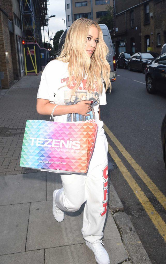 Rita Ora Leaves a Recording Studio in London 06/29/2016-2
