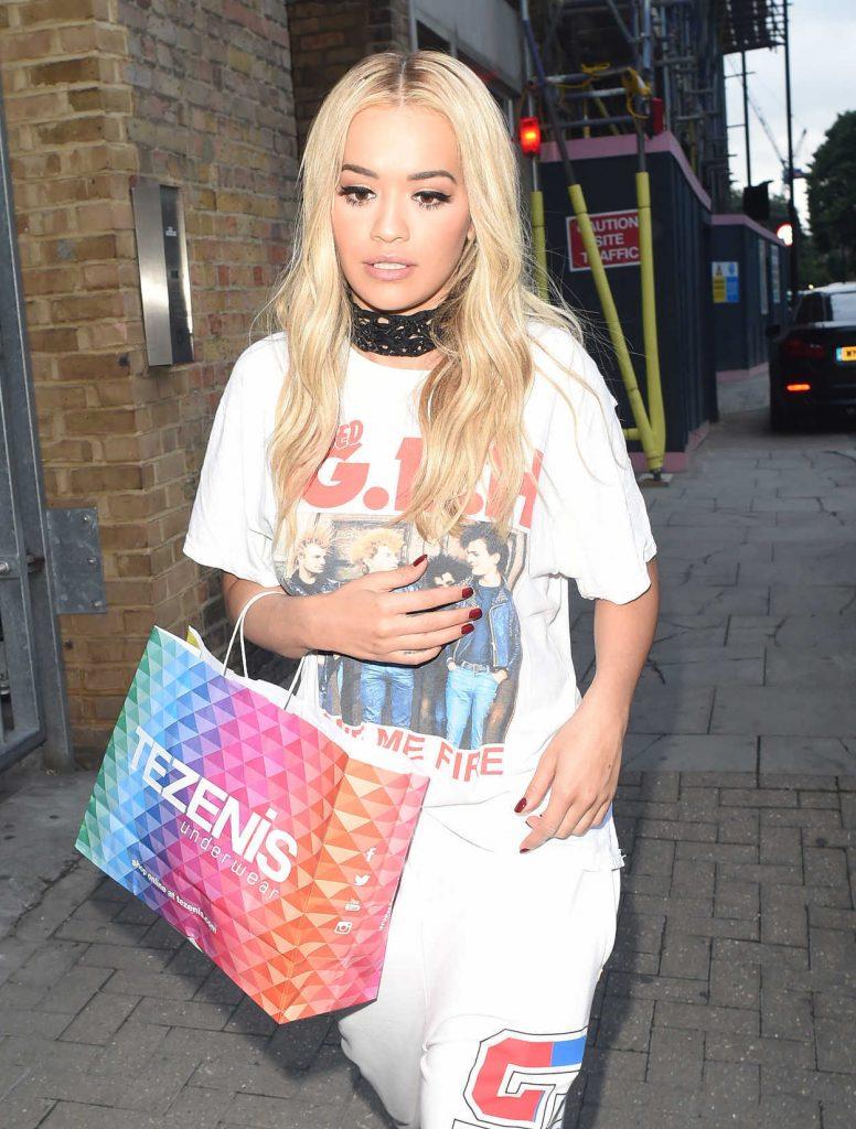 Rita Ora Leaves a Recording Studio in London 06/29/2016-3