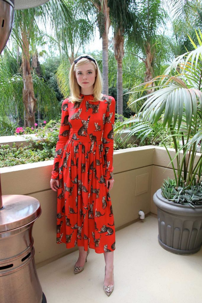 Elle Fanning at The Neon Demon Press Conference in Beverly Hills 06/27/2016-1