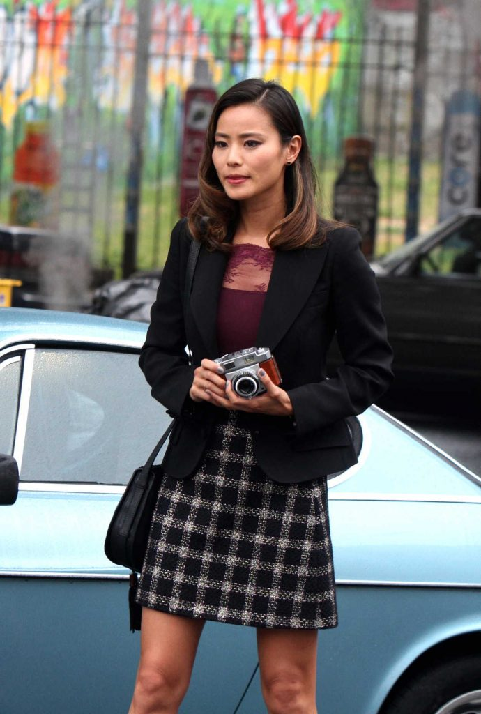 Jamie Chung on the Set of Gotham in New York City 06/27/2016-1
