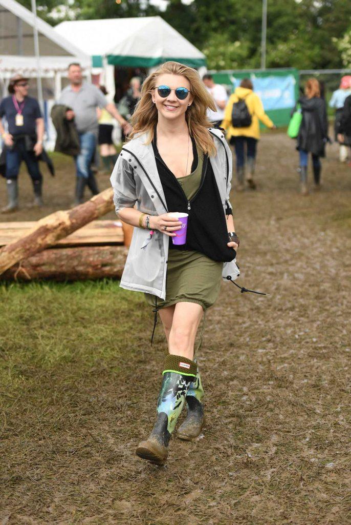 Natalie Dormer Visits the 2016 Glastonbury Festival in England 06/24/2016-2