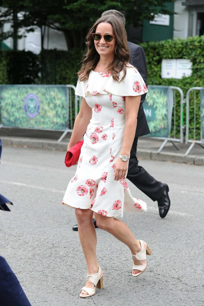 Pippa Middleton Attends Day One of Wimbledon in London 06/27/2016-1
