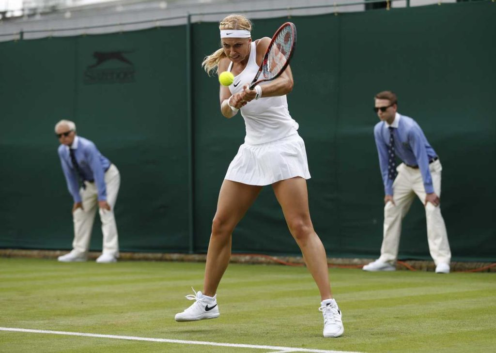 Sabine Lisicki During Her First Round Match in Wimbledon 06/27/2016-3