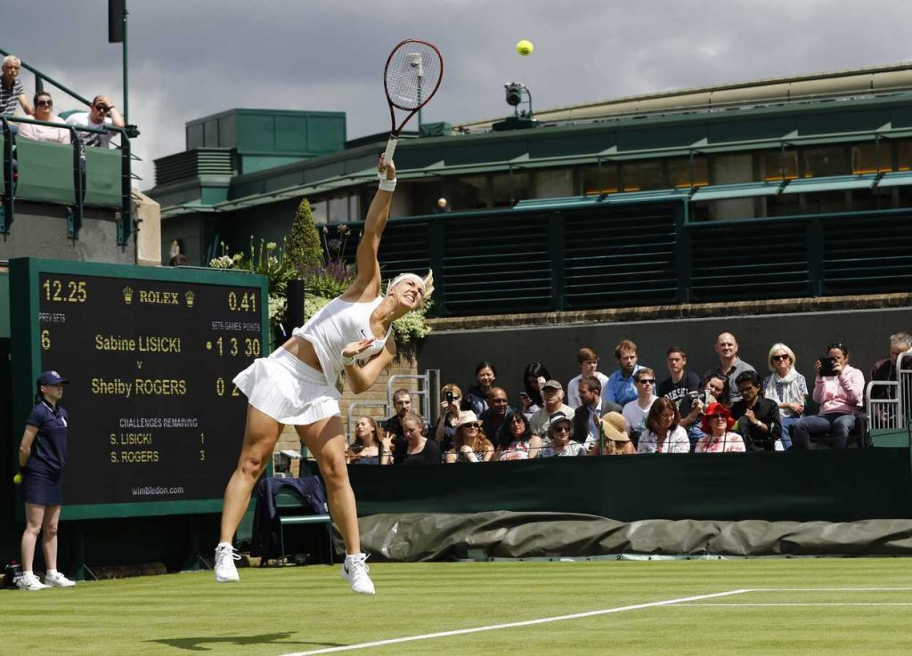 Sabine Lisicki During Her First Round Match in Wimbledon 06/27/2016-5