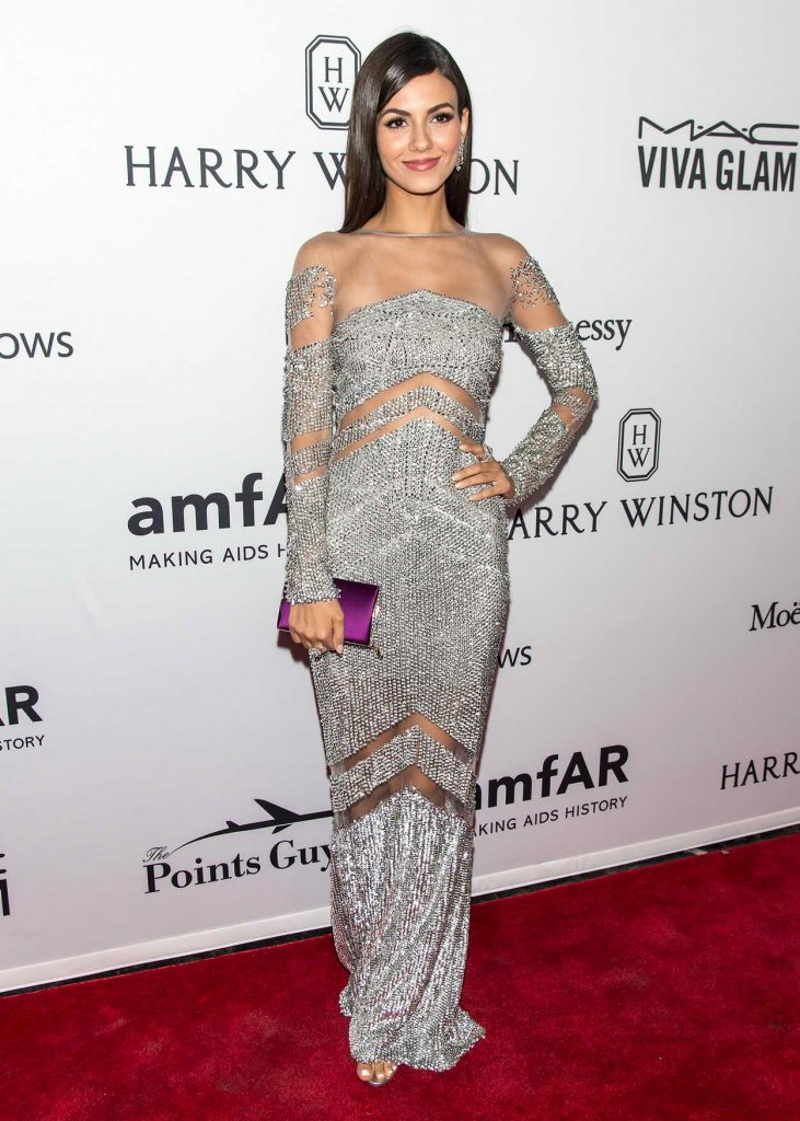 Victoria Justice at 7th Annual amfAR Inspiration Gala in New York 06/09/2016-1