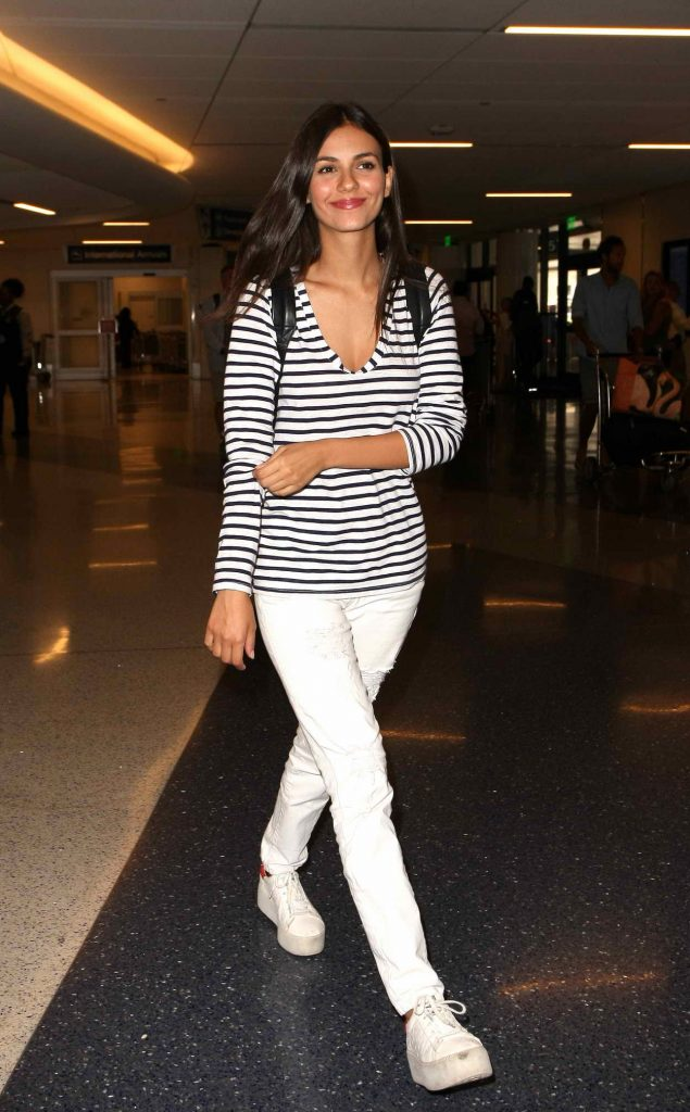 Victoria Justice at LAX Airport in Los Angeles 06/01/2016-1