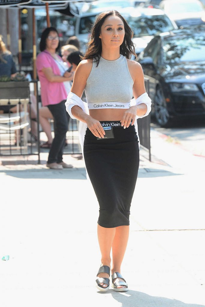 Cara Santana Was Seen in a Calvin Klein Dress in West Hollywood 07/29/2016-2