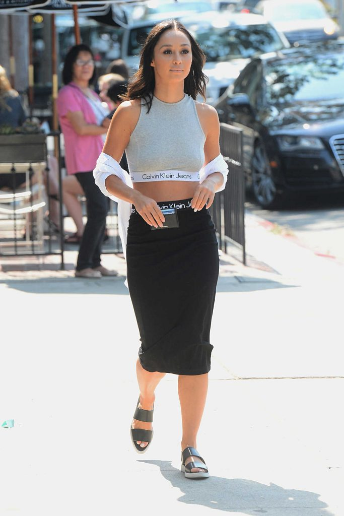 Cara Santana Was Seen in a Calvin Klein Dress in West Hollywood 07/29/2016-3