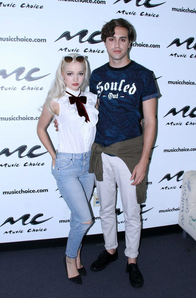 Dove Cameron Visits Music Choice Studio in New York 07/29/2016-1