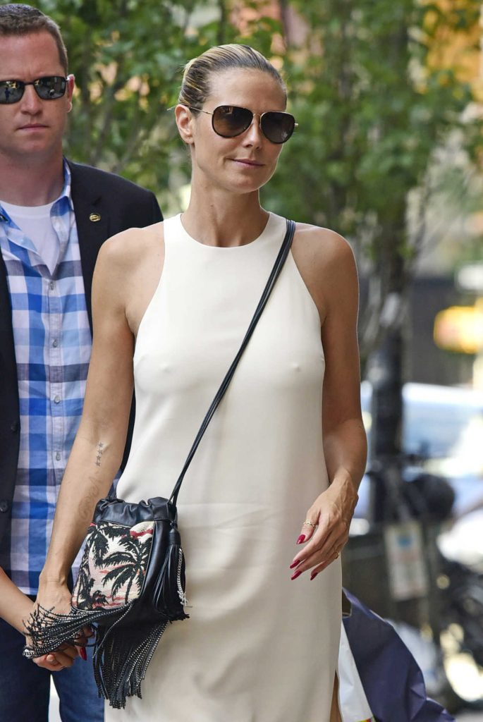 Heidi Klum Arrives to the Greenwich Hotel in New York 07/17/2016-1