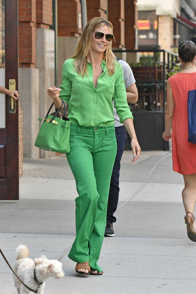 Heidi Klum Leaves Her Hotel in New York City 07/25/2016-1