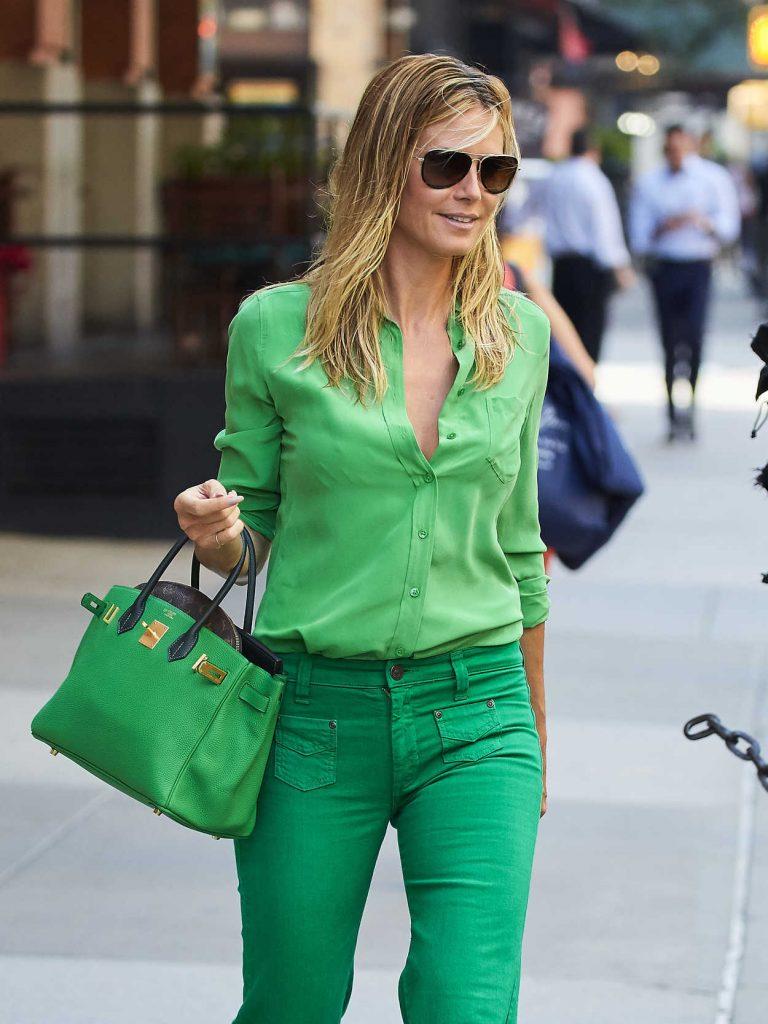 Heidi Klum Leaves Her Hotel in New York City 07/25/2016-2