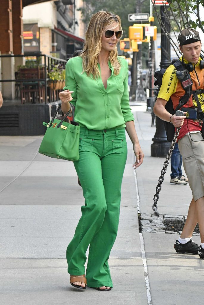 Heidi Klum Leaves Her Hotel in New York City 07/25/2016-3