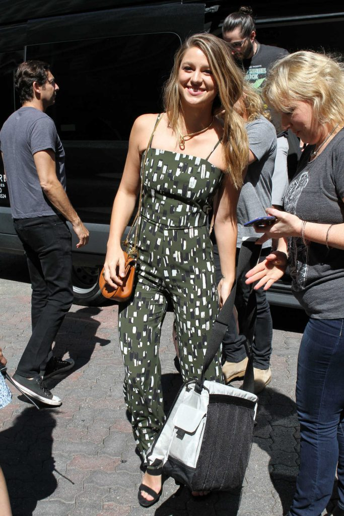Melissa Benoist Arrives to the Taping of Conan at Comic-Con International in San Diego 07/21/2016-1