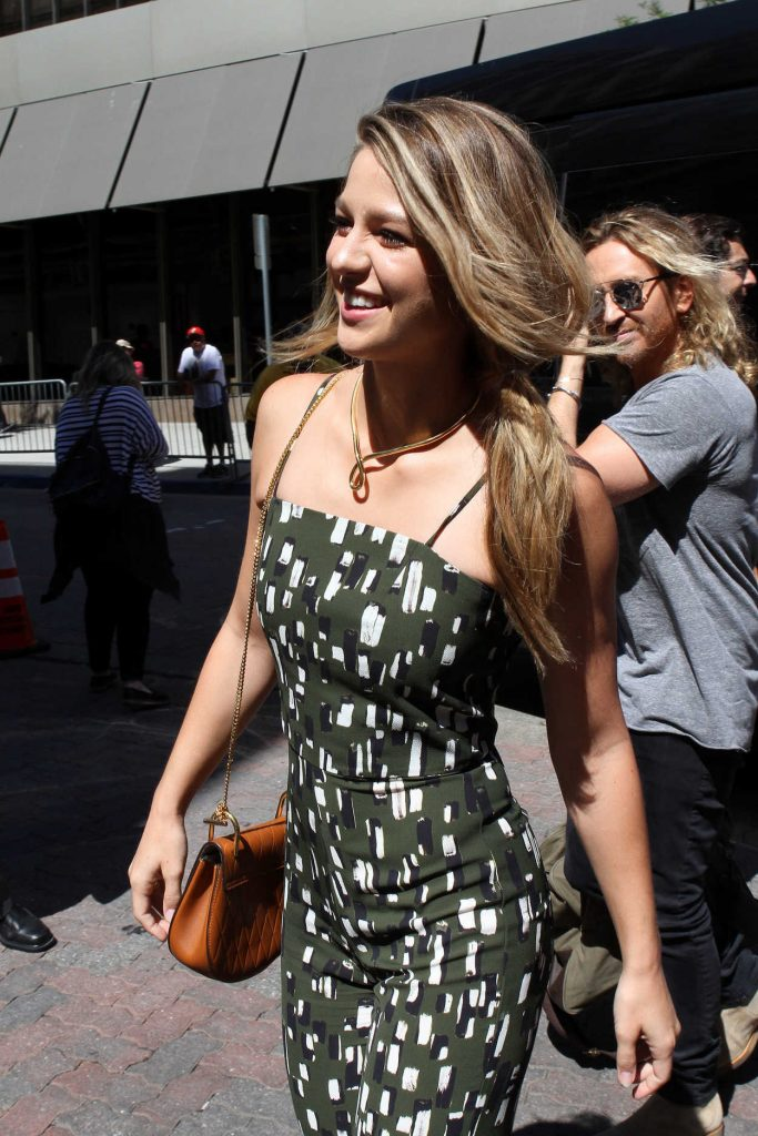 Melissa Benoist Arrives to the Taping of Conan at Comic-Con International in San Diego 07/21/2016-2