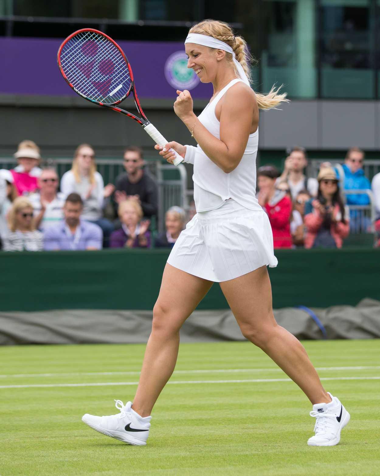 Sabine Lisicki During Her Second Round Match in Wimbledon ...