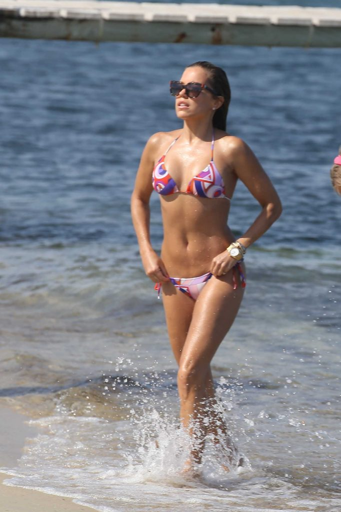 Sylvie Meis Wearing a Bikini at the Beach in St Tropez 07/05/2016-1