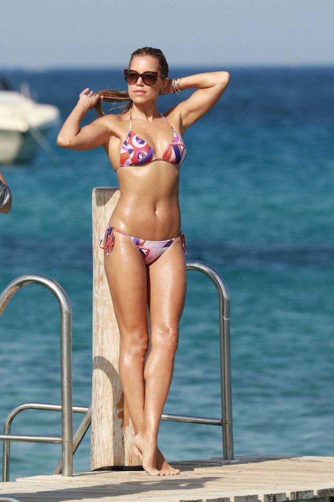 Sylvie Meis Wearing a Bikini at the Beach in St Tropez 07/05/2016-4