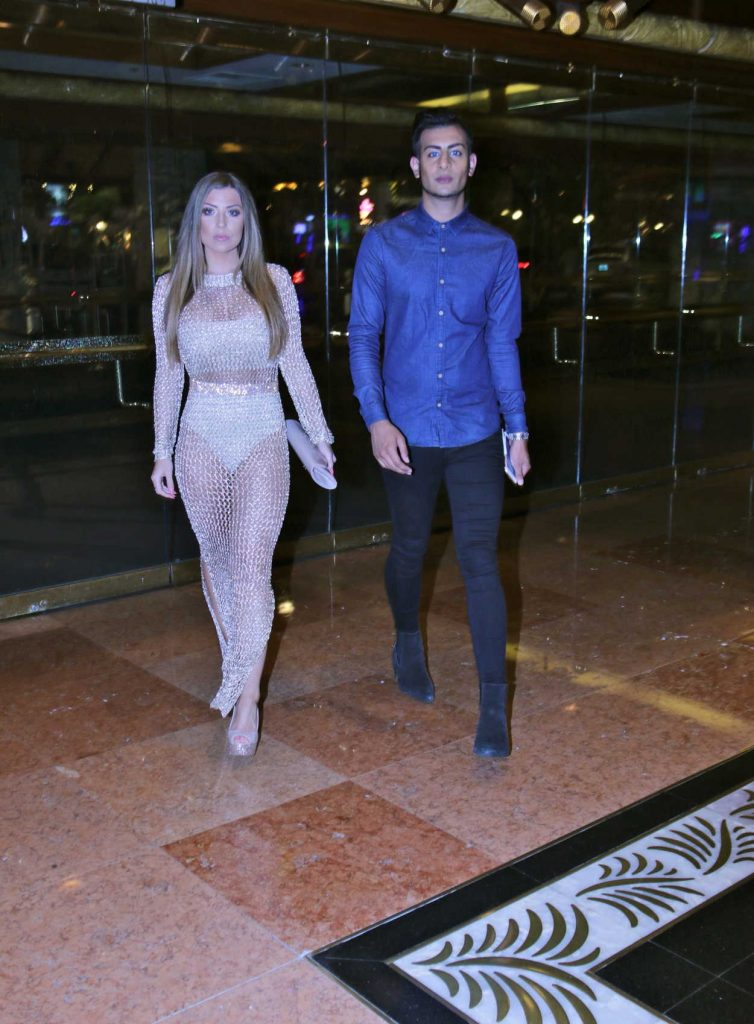 Abigail Clarke and Junaid Ahmed Was Seen Out in Las Vegas 08/27/2016-1