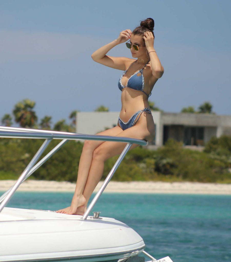 Bella Hadid in Bikini at the Beach in Turks and Caicos 08/12/2016-3