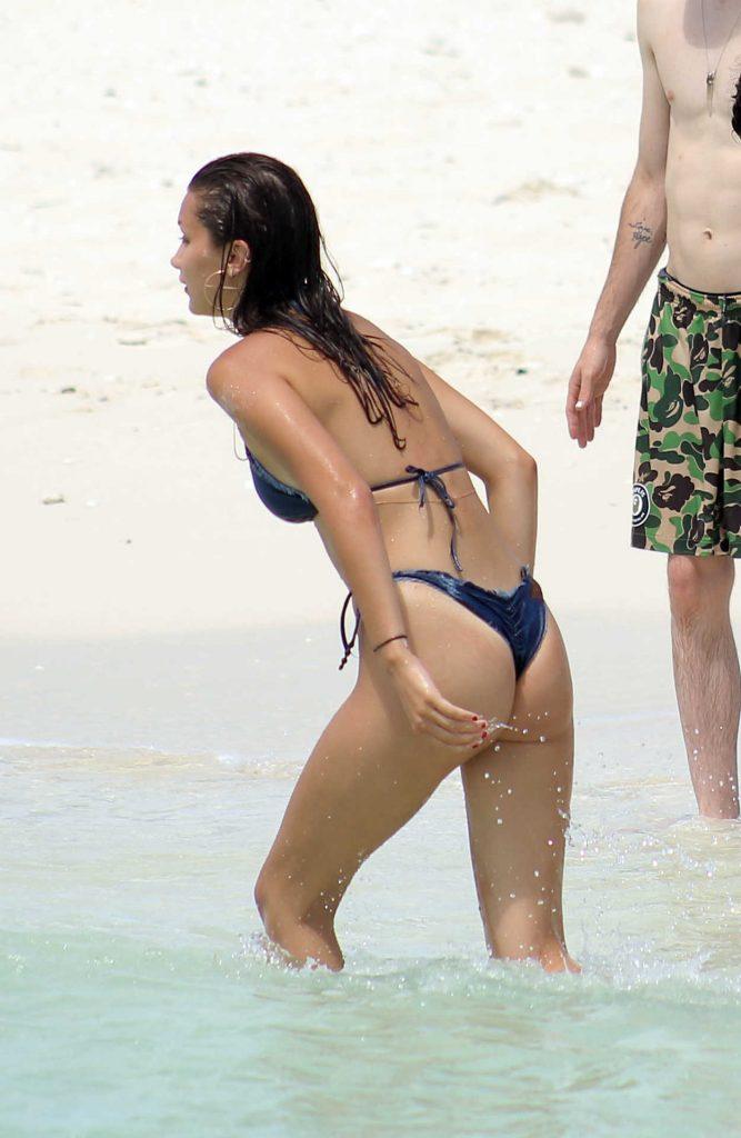 Bella Hadid in Bikini at the Beach in Turks and Caicos 08/12/2016-5
