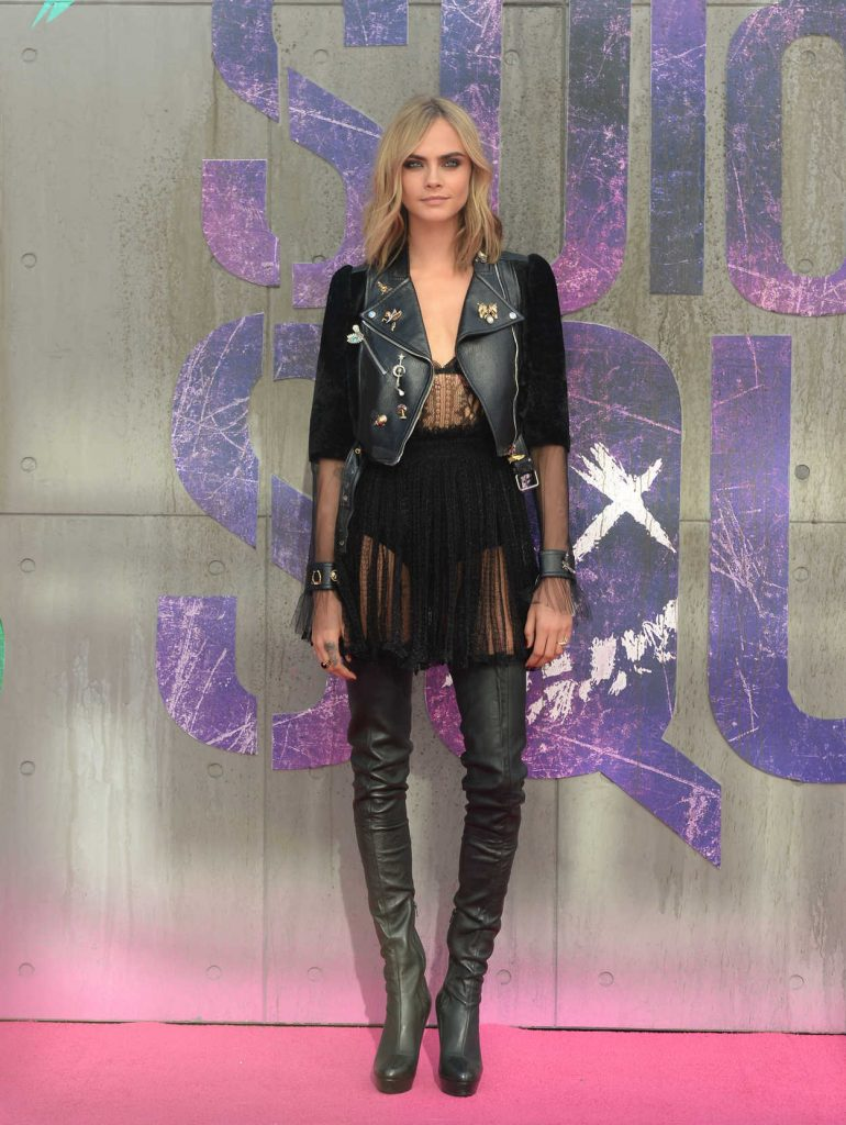 Cara Delevingne at the Suicide Squad European Premiere at Odeon Leicester Square in London 08/03/2016-1
