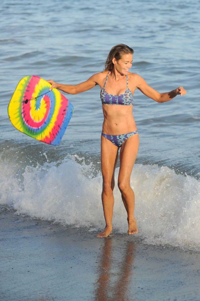 Denise Richards Wearing Bikini at the Beach in California 07/31/2016-4