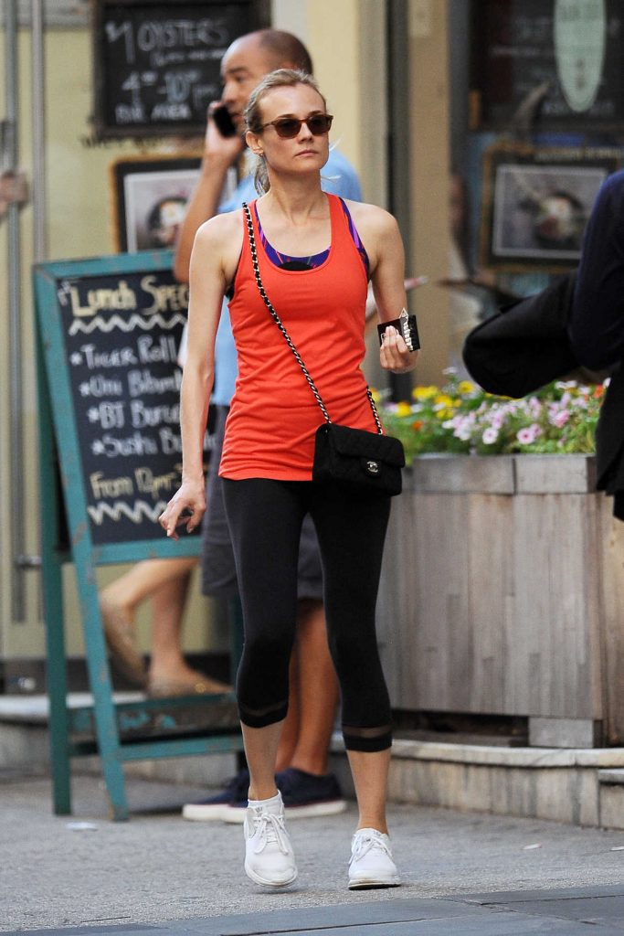 Diane Kruger Leaves the Gym in Soho, New York 08/08/2016-1