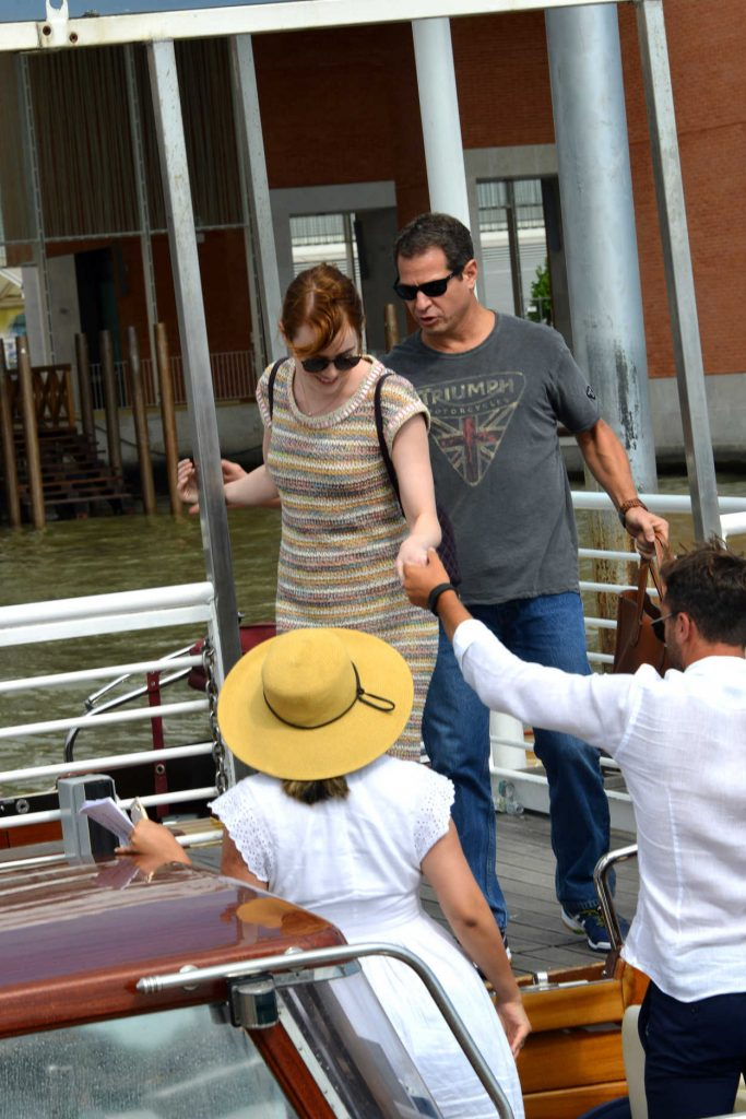 Emma Stone Arrives at the Venice Airport 08/30/2016-3