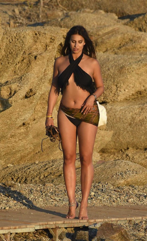 Ferne McCann in Bikini at the Beach in Mykonos 08/23/2016-3