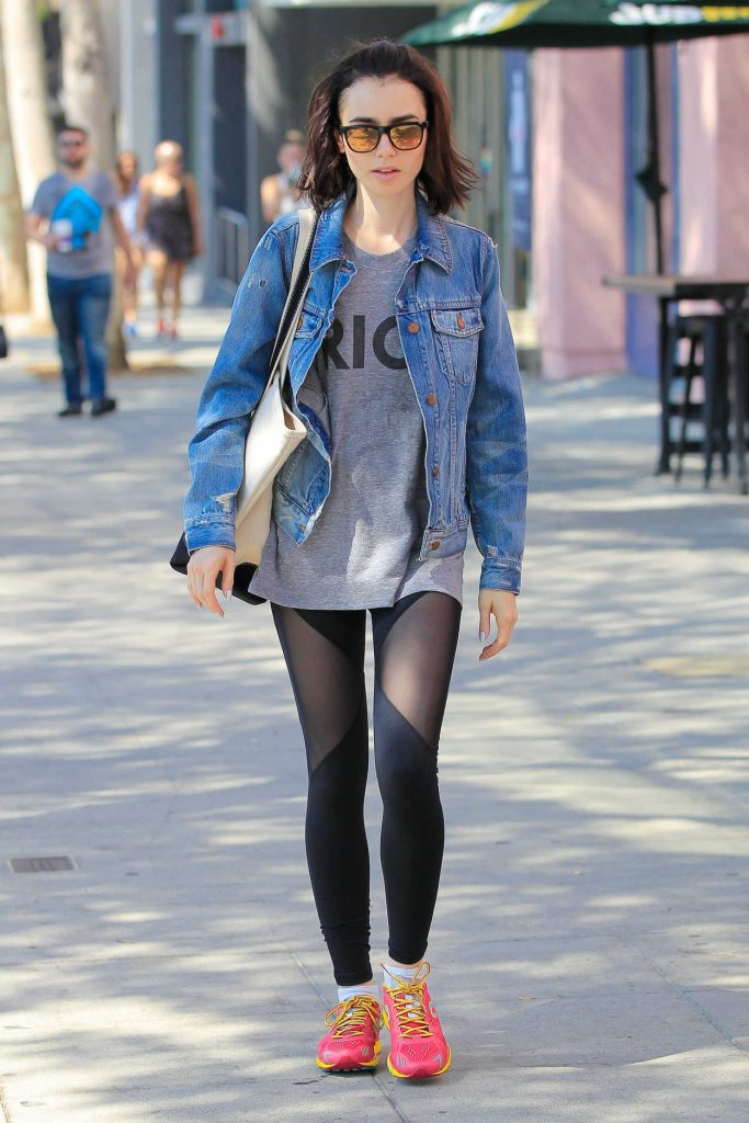 Lily Collins Leaves Workout Class in West Hollywood 08/23/2016-1