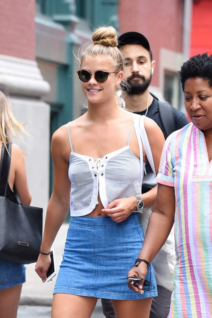 Nina Agdal Was Seen Out in SoHo, New York 08/02/2016-1