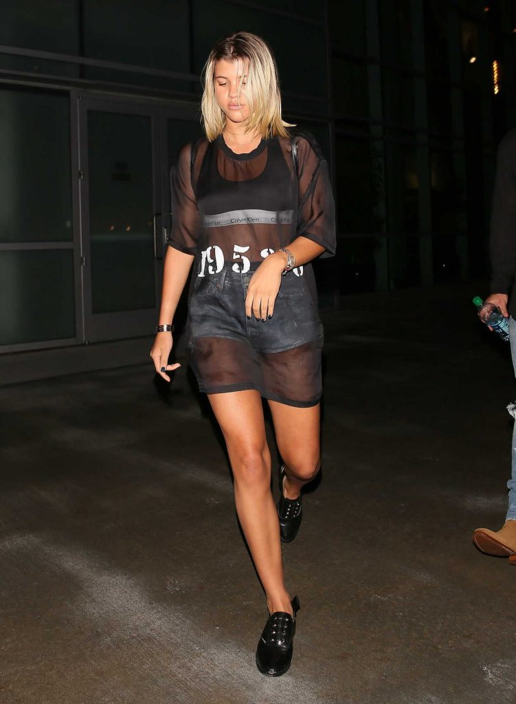 Sofia Richie Leaves Staples Center in Los Angeles 08/21/2016-1