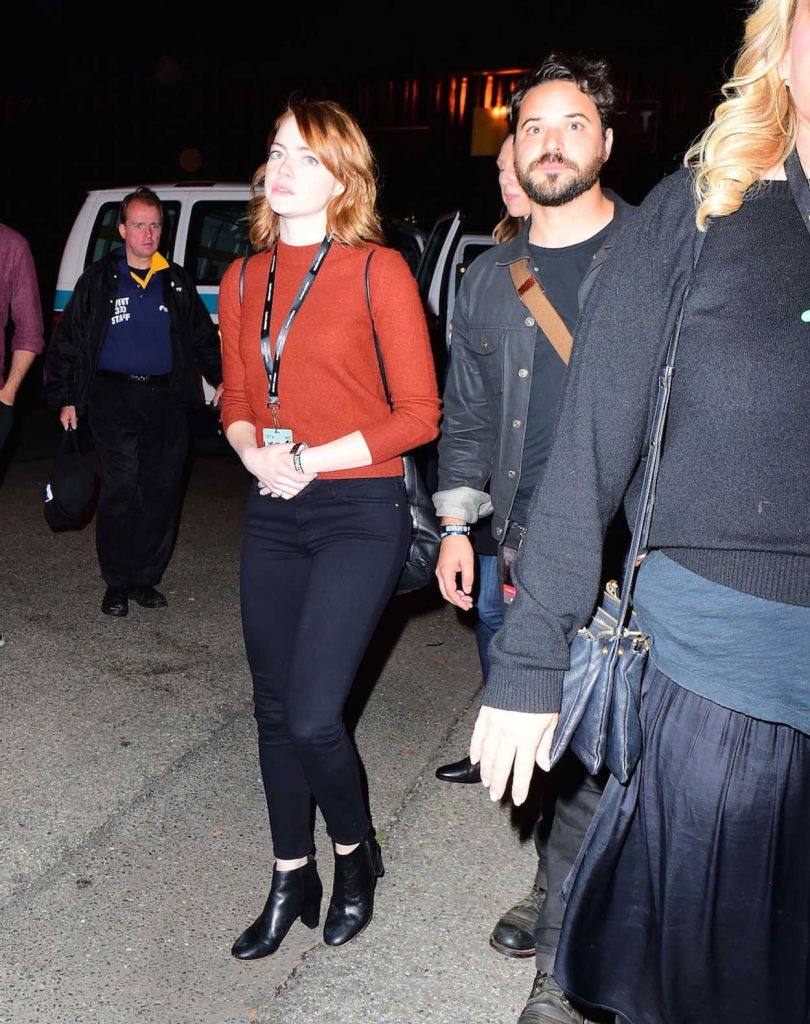 Emma Stone With Unknown Friend at the Global Citizen Festival in NYC 09/25/2016-1