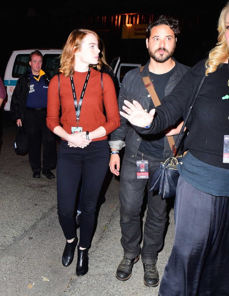 Emma Stone With Unknown Friend at the Global Citizen Festival in NYC 09/25/2016-3