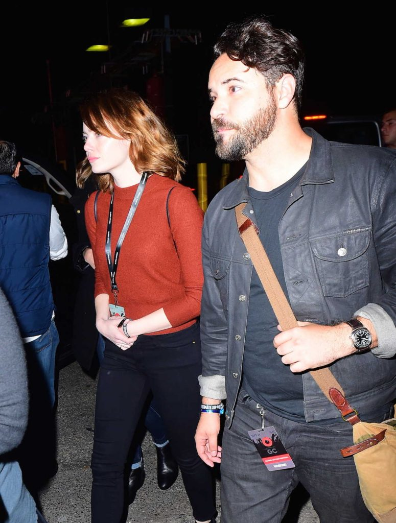 Emma Stone With Unknown Friend at the Global Citizen Festival in NYC 09/25/2016-4