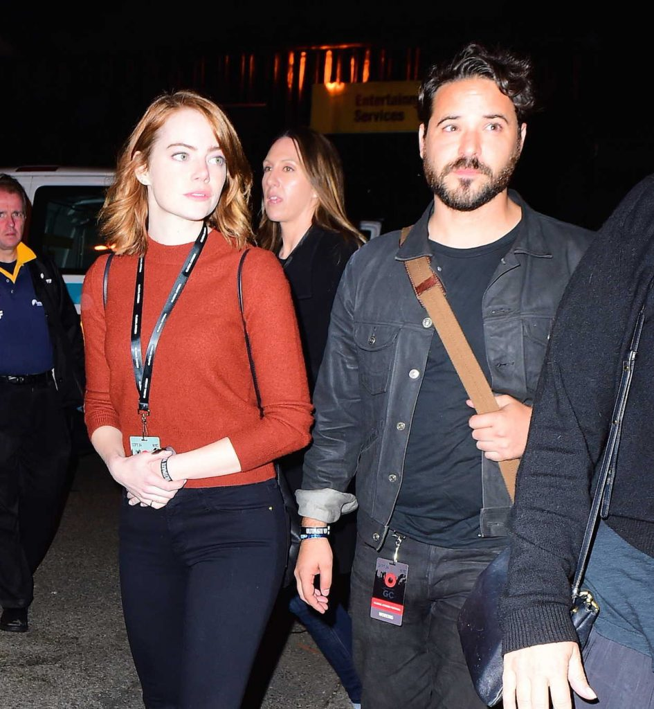 Emma Stone With Unknown Friend at the Global Citizen Festival in NYC 09/25/2016-5